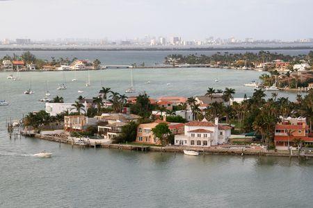 Expensive Miami Real Estate on the Coast Stock Photo