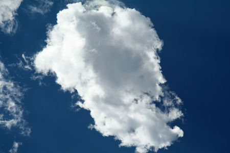 Lonely Cloud in the Blue Sky During Day Stock Photo - 651135