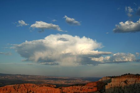 Clouds in Bryce Canyon National Park - USA Stock Photo - 651132