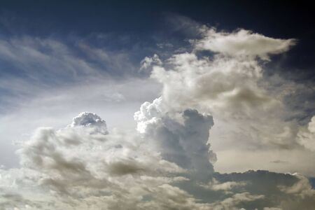 Heavenly Clouds with a Deep Blue Background Stock Photo - 651108
