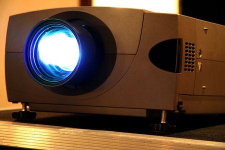 diaporama: Pr�sentation projecteur pour la R�union avec faisceau lumineux