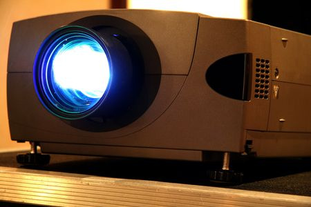 Presentation Projector for Meeting with Light Beam Фото со стока - 654105