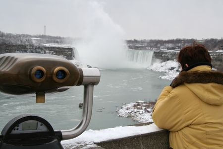 Niagara Falls - Tourist View of the Horseshoe Falls