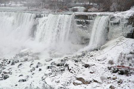 Niagara Falls in the Winter - American and Bridal Falls