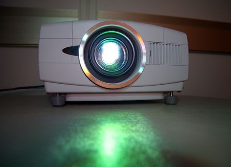 Presentation Projector for Meeting with Light Beam photo
