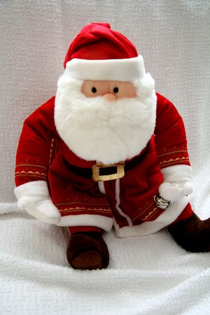 Santa Claus Childrens Toy on a White Background photo