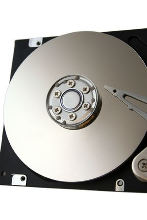 Opened Computer Hard Drive Isolated on a White Background