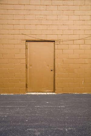 Back Alley Door on Side of Industrial Building
