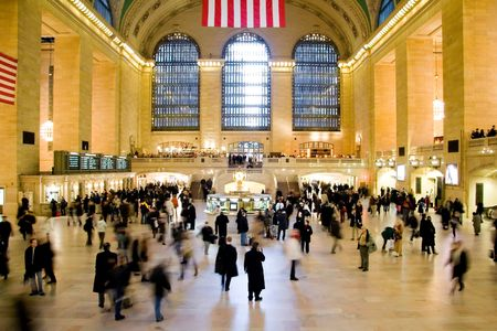blur subway: Grand Central Station in New York City Stock Photo