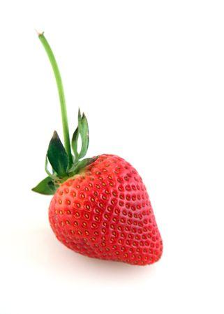 Ripe Red Strawberry Geïsoleerd op witte achtergrond