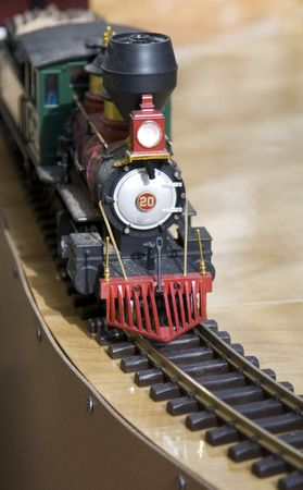 Toy Locomotive on a Track