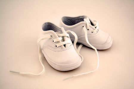 Little  Shoes Isolated on a Background Stock Photo