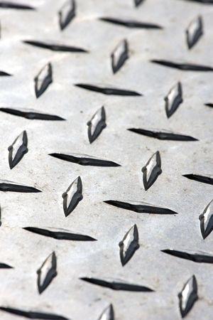 Close-up of Diamond Plate Steel Archivio Fotografico