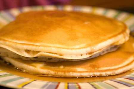 Close-up of a Stack of Delicious Pancakes