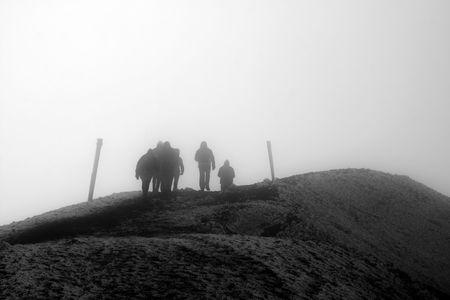tongariro: Hiking Tongariro National Park in New Zealand Stock Photo