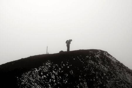 Hiking Tongariro National Park in New Zealand photo