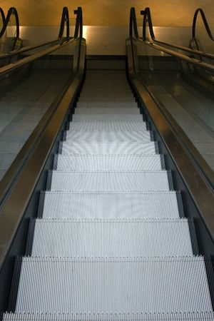 Escalator Steps Inside Building Going Down