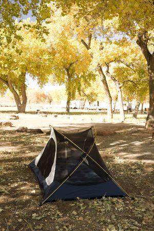campsite: Campsite with Tent in the Arizona Desert Stock Photo