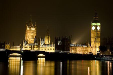 Huis van het Parlement en de Big Ben in Londen, Verenigd Koninkrijk