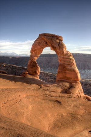 Delicate Arch in Arches National Park Utah Фото со стока
