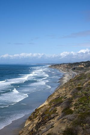View from Top of Torrey Pines State Park in San Diego California photo