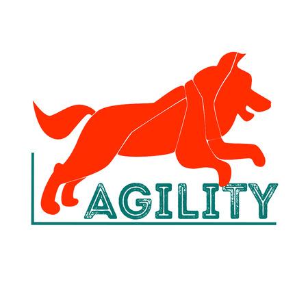 Dog agility logotype.