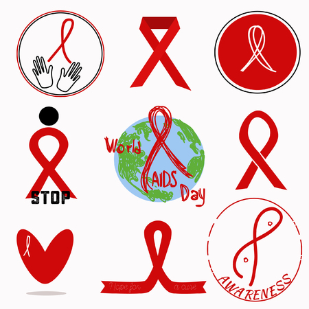 Hiv Symbols Collection Breast Cancer Awareness Symbol Royalty Free