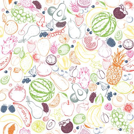 Healthy food, raw vegan pattern.