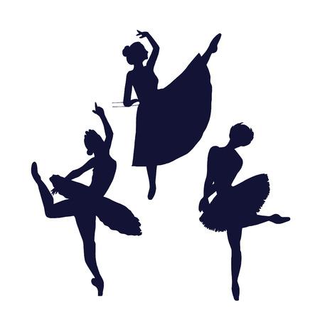 Female dancer poses shadows.