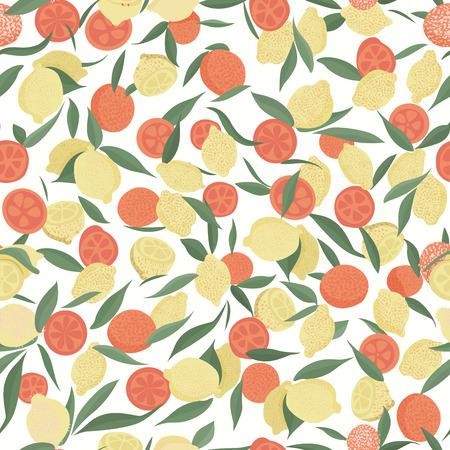 Citrus seamless pattern.