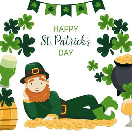 Irish traditional festival background.