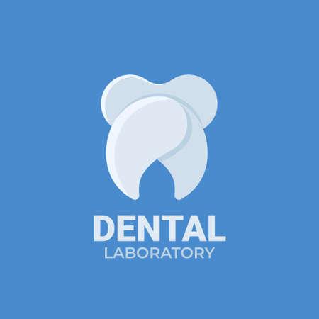 Dental laboratory  isolated on blue background.
