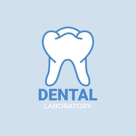 Dental laboratory  isolated on white background. 일러스트