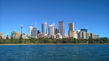 Sydney City CBD seen from Mrs Macquaries Chair