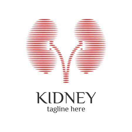 Kidney Urology Care logo designs vector, Human Kidneys Icon . Medical Hospital Clinic Symbol