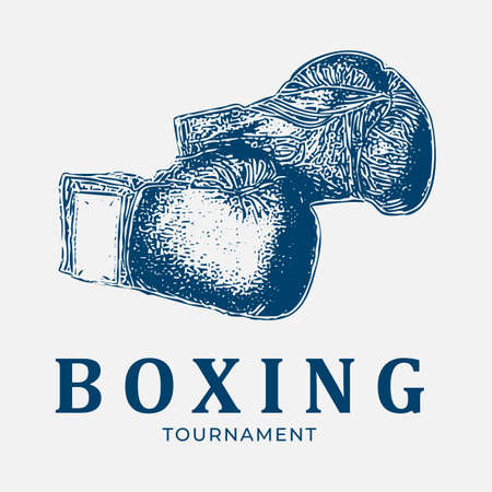 boxing tournament logo vintage logo 矢量图像