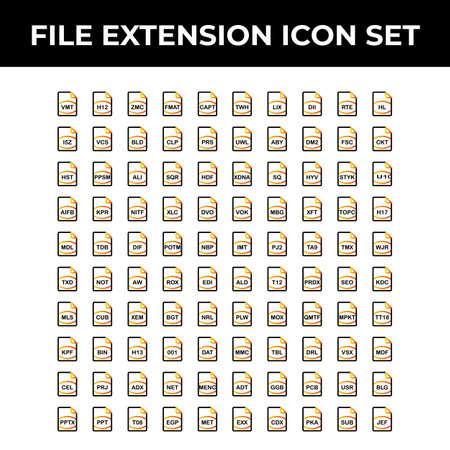 file extension icon  イラスト・ベクター素材