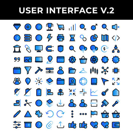 user interface icons set include diamond,pause,plus,achievement,shopping,cross,data base,pause,energy,printer,law,chain,computer,magnet,layer,archive,battery,align,scissor,info,layer,download