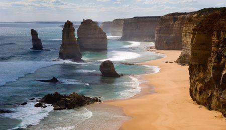australie landschap: Twaalf apostelen.  Australië. Great ocean Road.  Stockfoto