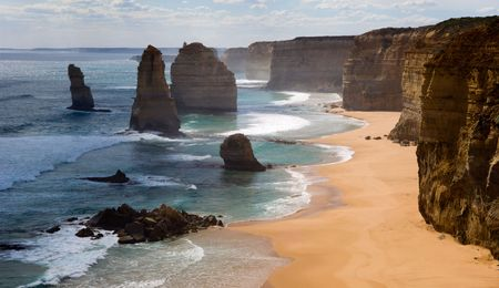 australia: Twelve apostles. Australia. Great ocean Road.  Stock Photo