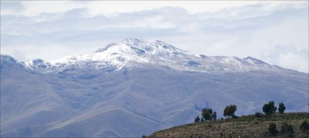 alpamayo: The Andes. A kind on snow top of the Andes.