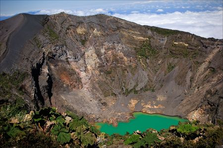 active volcano: The Iraz� Volcano (Spanish: Volc�n Iraz�) is an active volcano in Costa Rica, situated in the Cordillera Central close to the city of Cartago. Stock Photo