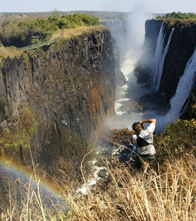The photographer make a picture of waterfalls Victoria.
