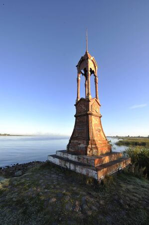 volkhov: The Volkhov lip, the New Ladoga channel, settlement Nemjatovo, Red Lighthouse, it is constructed in 18 century, now to destination it is not used
