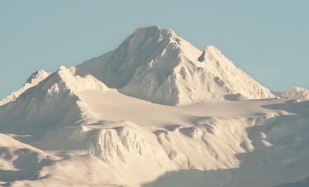 Snowcovered Mountains in  Alaska. Alaska Chilkat Bald Eagle Preserve. Alaska. USA 写真素材