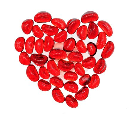 Red hot heart on isolated on the white  background Stock Photo - 12004285