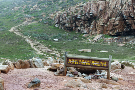 Cape of Good Hope sign in South Africa  photo