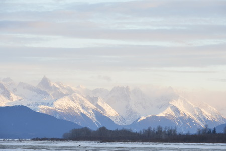 Snowcovered Mountains in  Alaska. Chilkat State Park. Mud Bay. HAINES. Alaska. USA photo