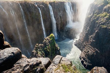Victoria Falls on Zambezi River, border of Zambia and Zimbabwe. Africa