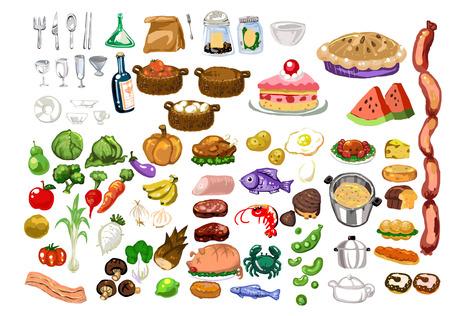 手描き風ベクトル素材食品 写真素材 - 75870163